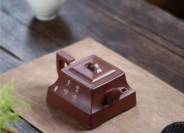 朱新南紫砂壶作品|原矿底槽清四方之志壶400CC手工正品价格