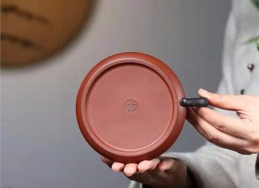 朱新南紫砂壶作品|原矿清水泥龙瓢壶320CC手制真品价格