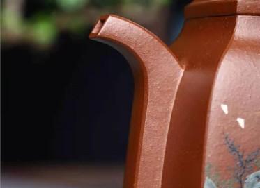 鲍明亚紫砂壶作品 原矿底槽清汉方壶460CC手工真品价格
