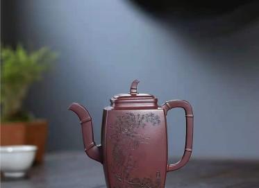 朱新南紫砂壶作品 原矿底槽清高风亮节壶500CC手制正品价值