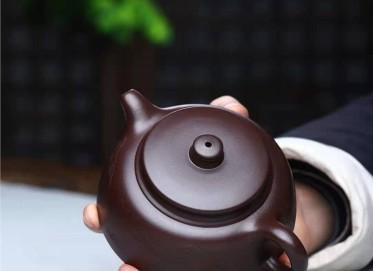 刘莹紫砂壶作品 紫茄泥钰井壶260CC手工真品价格表