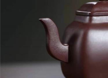 王建南紫砂壶作品|紫茄泥禅言壶350CC手工真品价位