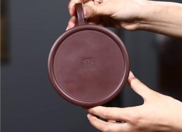 范君浩紫砂壶作品 原矿紫泥牛盖莲子壶500CC手制真品价格表