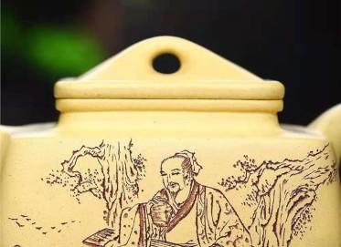 刘莹紫砂壶作品|本山绿泥四方宝鼎壶330CC全手工真品价格表