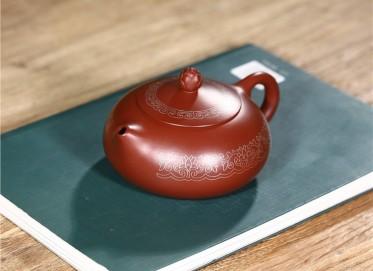 范君浩紫砂壶作品|原矿大红袍梵莲扁乳壶250CC纯手工正品行情