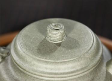 范君浩紫砂壶作品 原矿青段泥龙韵德钟壶340CC手工正品价值