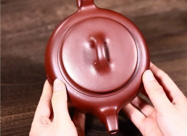 吴小楣紫砂壶作品|石红泥大德壶680CC手制正品价格