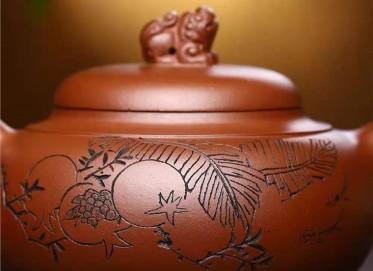 鲍明亚紫砂壶作品|原矿底槽清祥瑞壶370CC手工真品价位