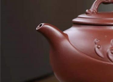 吴行其紫砂壶作品 原矿底槽清祥龙吐瑞壶400CC手制正品多少钱
