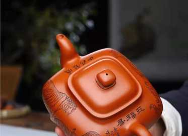 刘莹紫砂壶作品|原矿朱泥传炉壶750CC手制真品价位