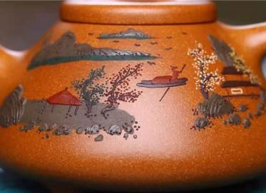 王其明紫砂壶作品|蟹黄段泥子冶石瓢壶260CC全手工正品怎么样