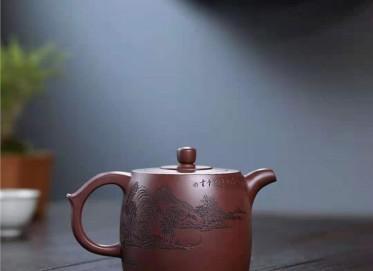 朱新南紫砂壶作品 原矿底槽清井栏壶350CC纯手工真品多少钱