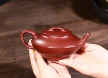 范君浩紫砂壶作品 梅红泥和合壶260CC纯手工正品怎么样