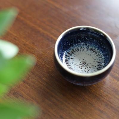 悠然紫砂作品 拉丝杯建盏