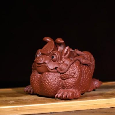 紫砂茶宠 三足蟾蜍