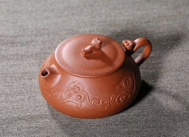 杨军保紫砂壶作品 行云如意壶 金降坡泥 220cc  工艺美术师 杨军保紫砂壶价格,多少钱