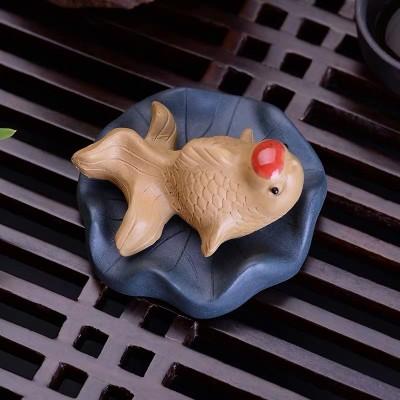 紫砂茶宠 荷叶鱼
