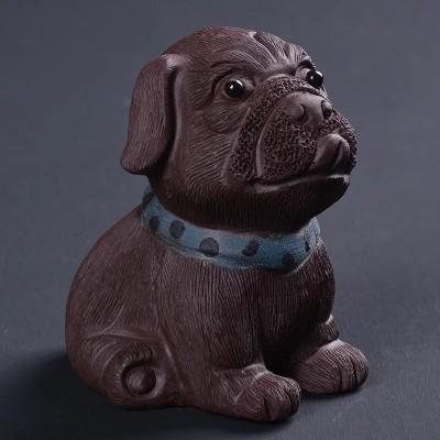 悠然紫砂作品 沙皮狗
