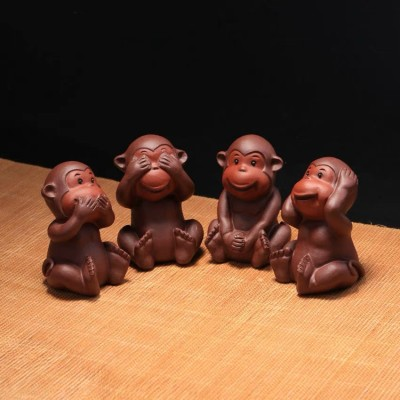 紫砂茶宠 四不猴
