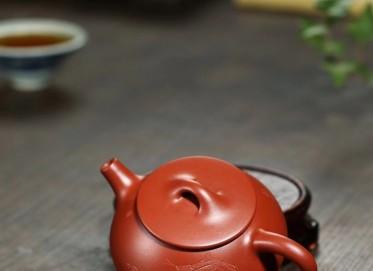 李群紫砂壶作品 小石瓢壶 朱泥大红袍 150cc  民间艺人 李群紫砂壶价格,多少钱