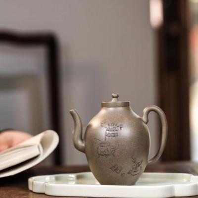 汤庄庄作品 橄榄壶
