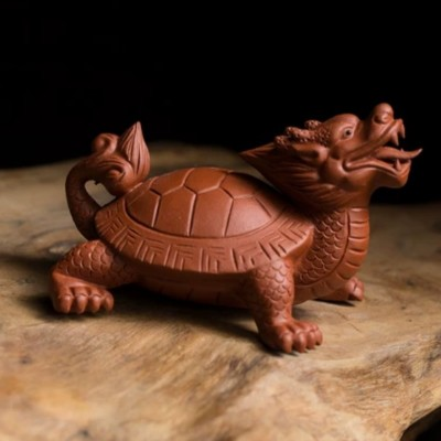 悠然紫砂作品 小龙龟