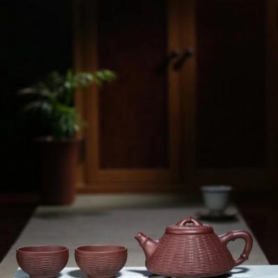 杨军保作品 竹编石瓢