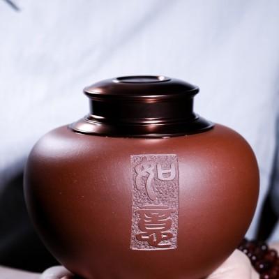 李龙胜作品 手工精品密封茶叶罐