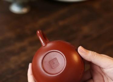 戚志君紫砂壶作品 掇球壶 原矿极品大红袍 220cc  实力派名家 戚志君紫砂壶价格,多少钱
