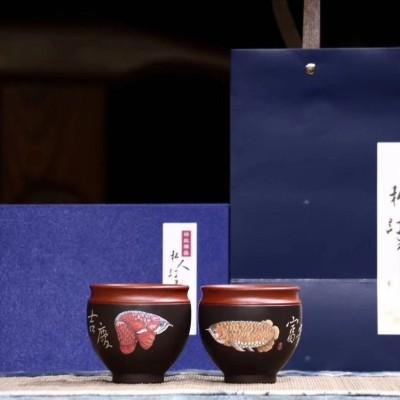 悠然紫砂作品 福贵 吉庆