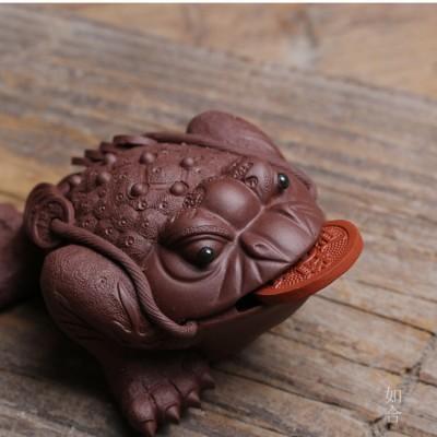 紫砂茶宠 招财金蟾