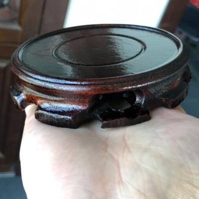 悠然紫砂作品 普通木头壶承