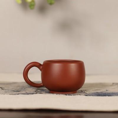 紫砂茶杯 带把品茗杯