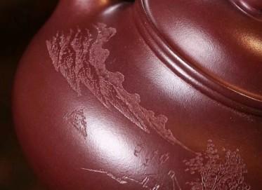 徐峰紫砂壶作品 容天壶 原矿老紫泥 180cc  助理工艺美术师 徐峰紫砂壶价格,多少钱