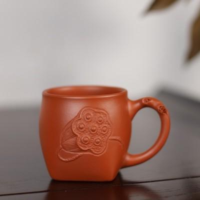 中国宜兴作品 带把莲蓬品茗杯