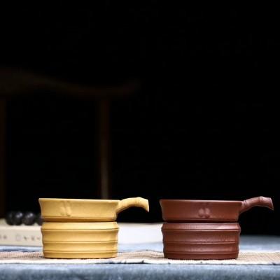 悠然紫砂作品 竹段茶漏
