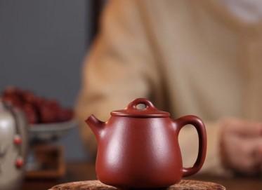 杨军保紫砂壶作品 高石瓢壶 原矿大红袍 200cc  工艺美术师 杨军保紫砂壶价格,多少钱