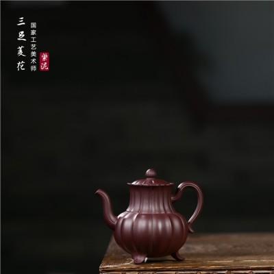 顾旭英作品 三足菱花