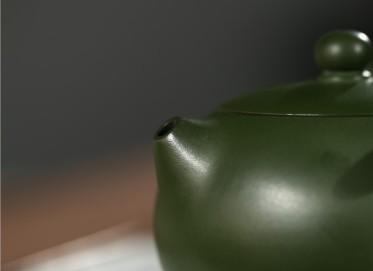张剑紫砂壶作品 原矿绿泥太师椅西施壶 260CC 国家级工艺美术师 张剑紫砂壶价格,多少钱