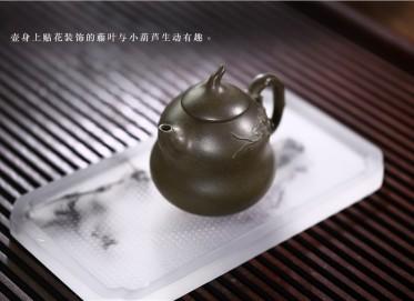 邵云琴紫砂壶作品 福禄壶 民国绿泥 300CC 国家级工艺美术师 福禄紫砂壶价格,多少钱
