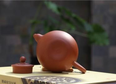 潘春芳紫砂壶作品 圆珠壶 原矿珍藏红泥 230CC 研究员级高级工艺美术师 圆珠紫砂壶价格,多少钱