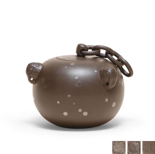 紫砂镶嵌—金与壶的艺术