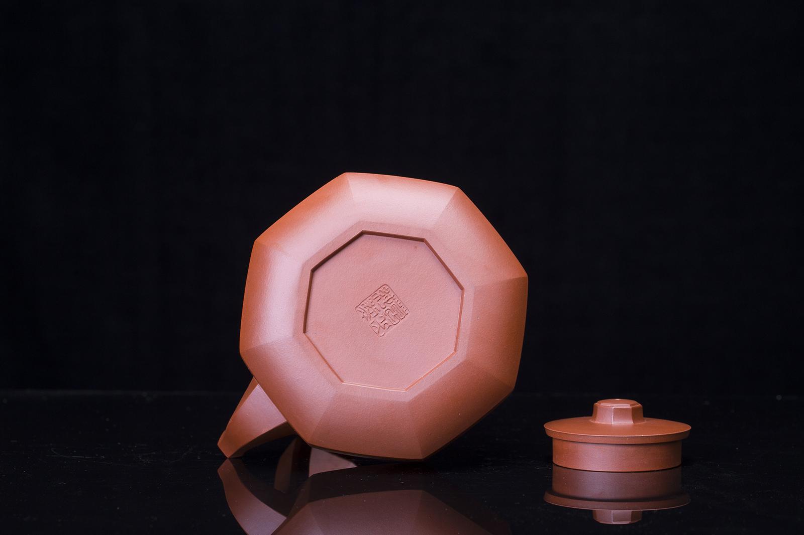 紫砂鉴赏丨葛岳纯·钻石提梁壶