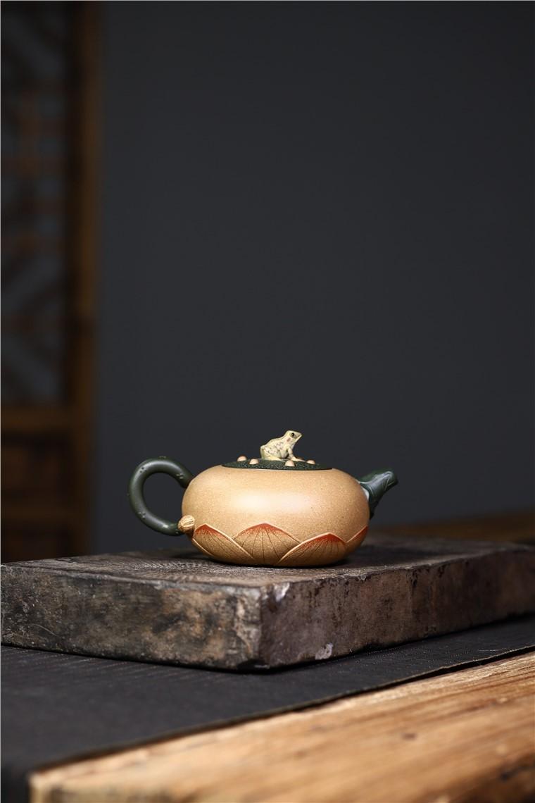 史宗娟作品 青蛙莲子图片