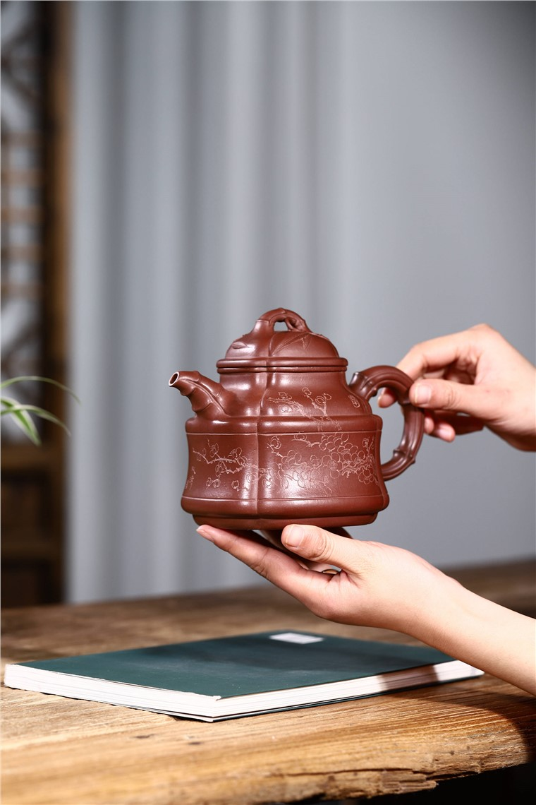 吴小楣作品 四方竹鼎图片
