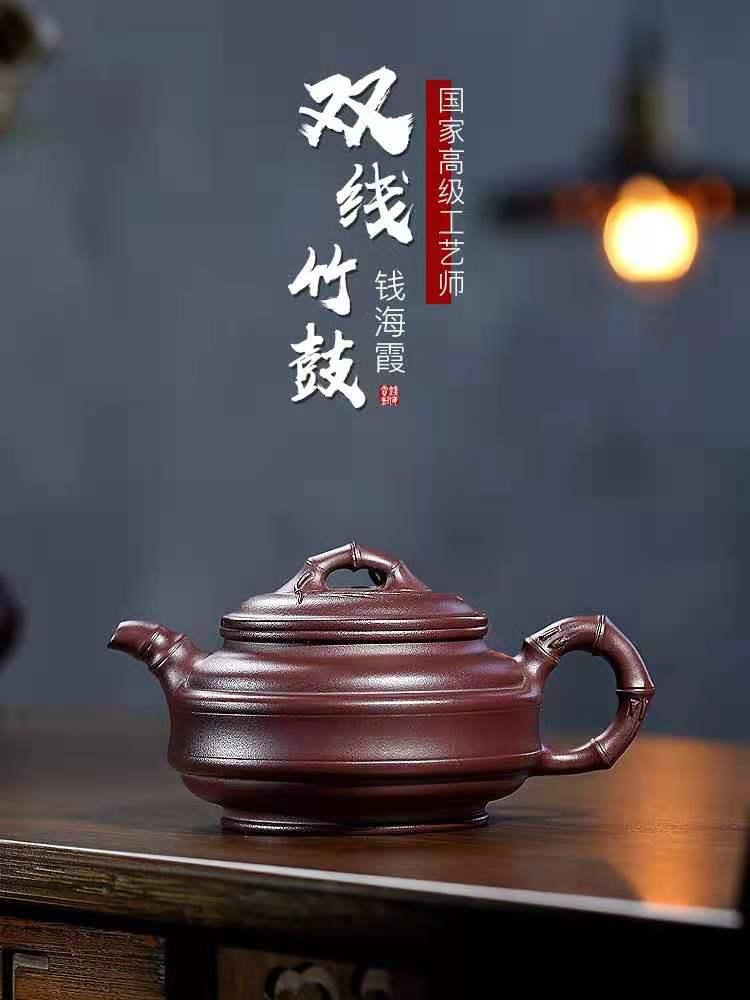 钱海霞作品 双线竹鼓图片