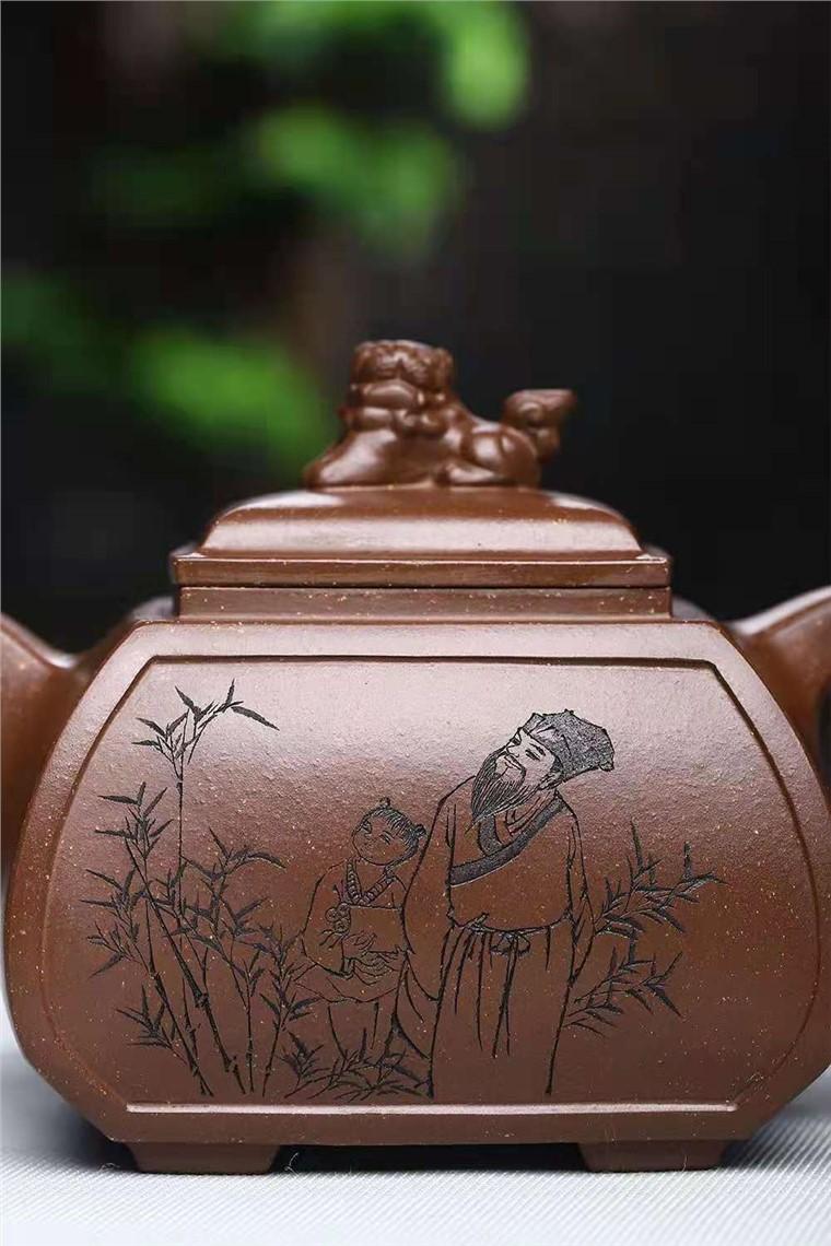 刘莹作品 四方狮尊图片