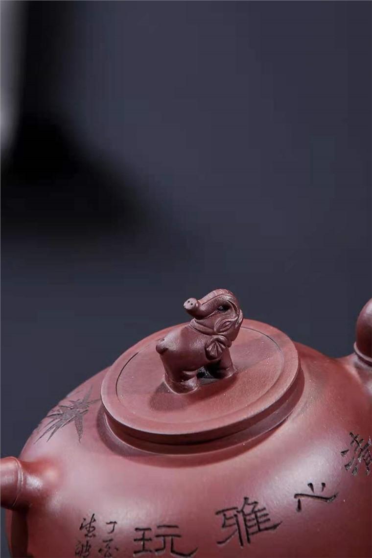 袁德波作品 竹祥壶图片