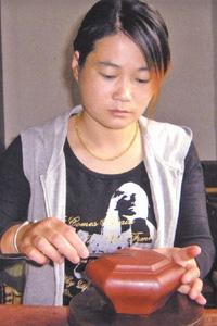 紫砂壶工艺师凌美芬名家照片