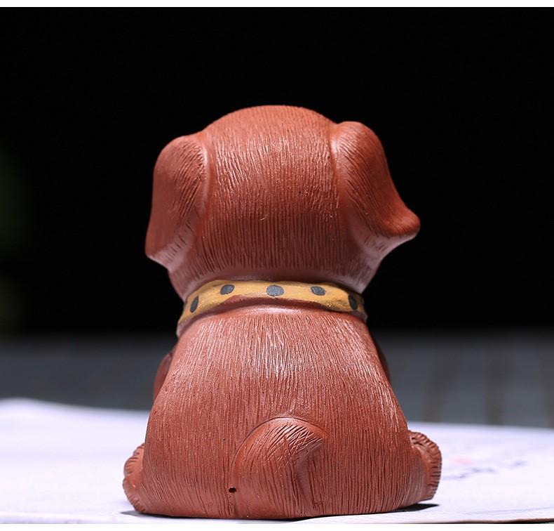 悠然紫砂作品 沙皮狗-旺财小狗